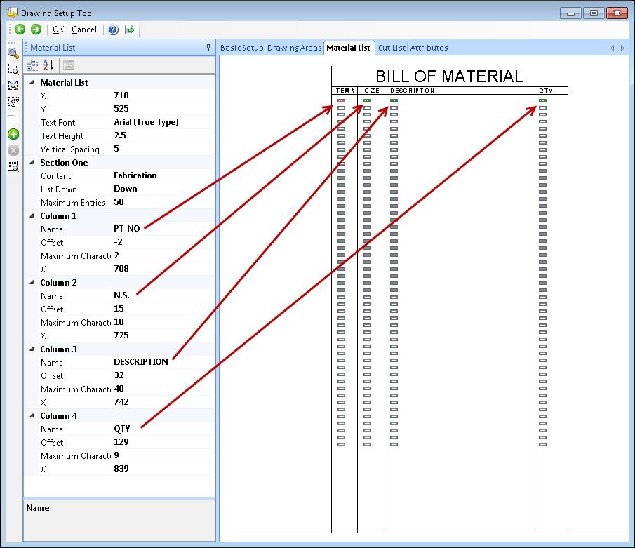 Figure 11 - Material List