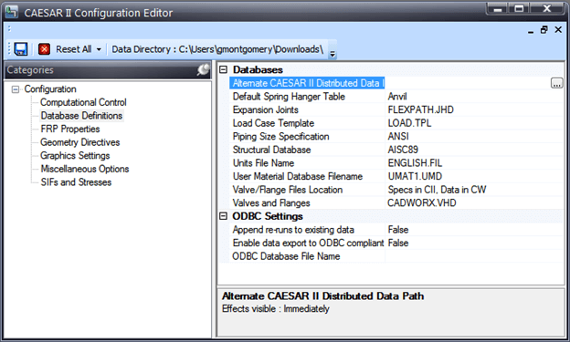 Access this option by going to Tools > Configure/Setup > Database Definitions Tab