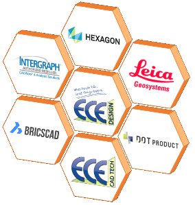 ECE Design: CADWorx & Analysis Solutions, Leica Geosystems, BricsCAD, Dot Products and ECE Technologies