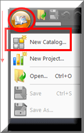 Figure 1 - CADWorx 2015 Catalog and Specification Editor: File Dropdown