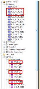 Figure 13 - Catalog EndType Datatables