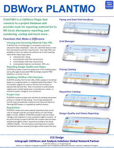 DBWorx: PLANTMO Brochure: DBWorx: PLANTMO Webinars and Training Videos