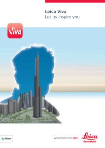 Leica Viva Series Brochure