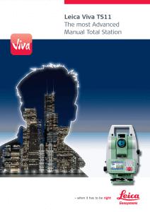 Leica Viva TS-11 Brochure