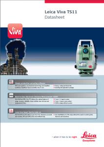 Leica Viva TS-11 Datasheet