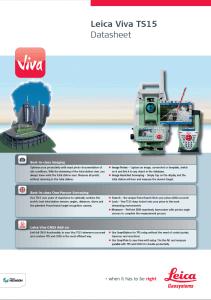 Leica Viva TS-15 Datasheet