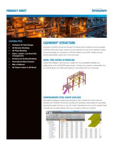 CADWorx Structure Brochure