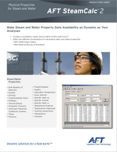 AFT SteamCalc DataSheet