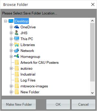 Browse Folder Dialog